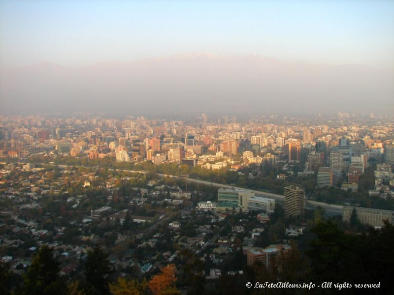 Santiago sous un nuage de pollution