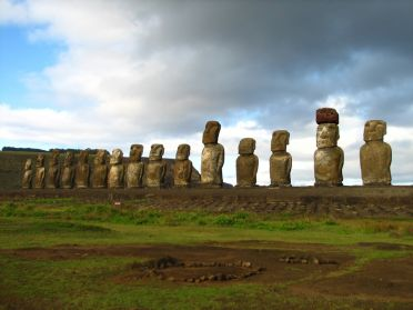 L'ahu Tongariki, le plus important des sites de moai de l'île