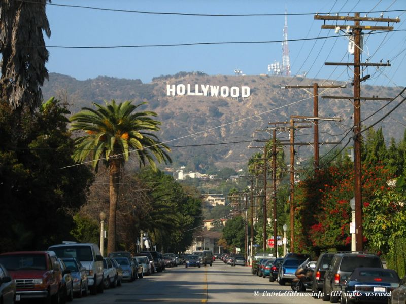 La fameuse inscription sur la colline d'Hollywood