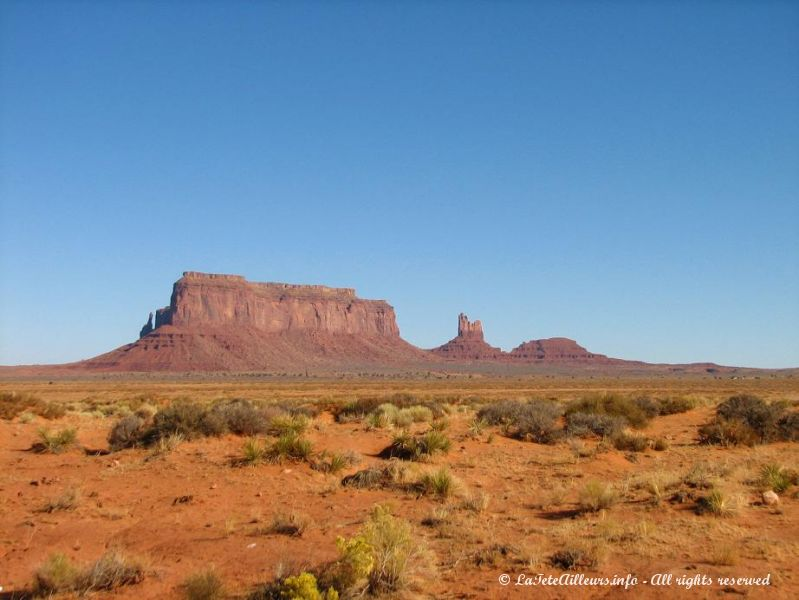 En arrivant a Monument Valley
