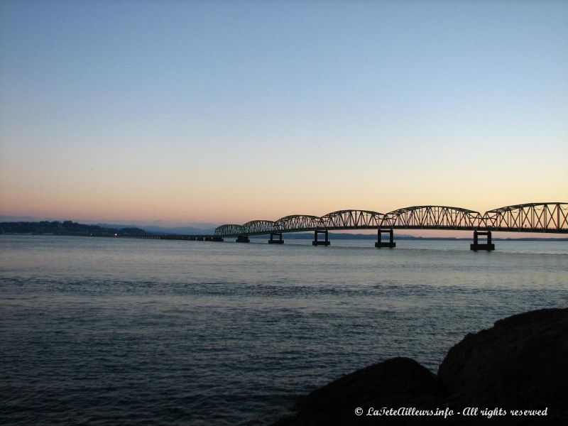 Le pont Astoria, frontiere entre l'Oregon et le Washington