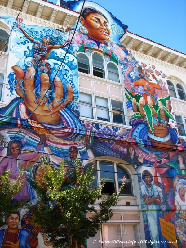 Le batiment des femmes a Mission, un quartier de San Francisco
