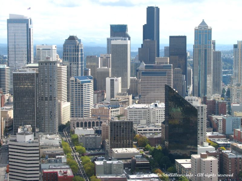 Le centre-ville de Seattle, vu depuis le Space Needle